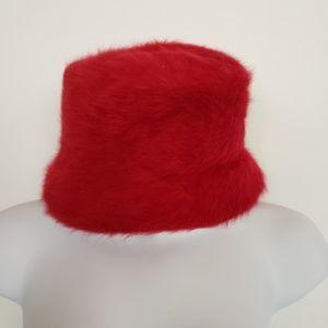 "Nordstrom red angora blend cloche hat ""Passy"""
